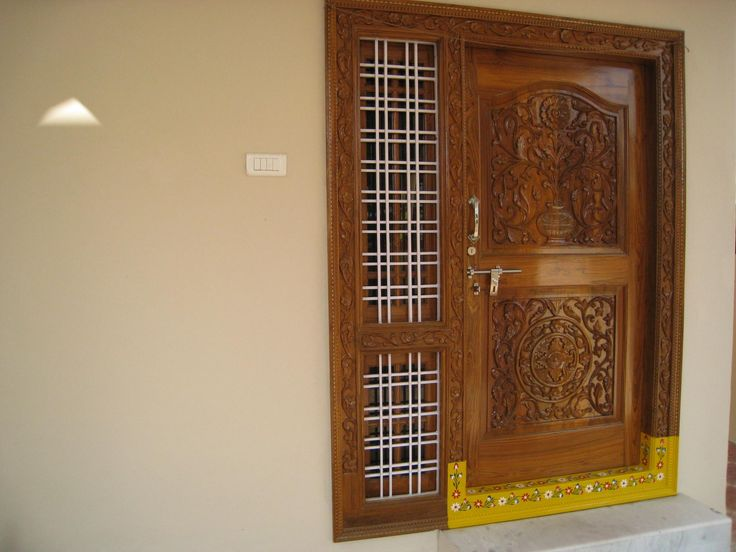 Good Traditional Main Door Design India Photo