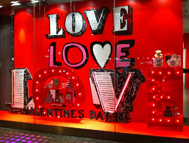 st valentine's day window decorations