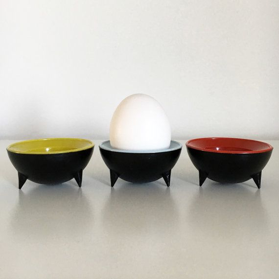 Midcentury modern colorful egg cups