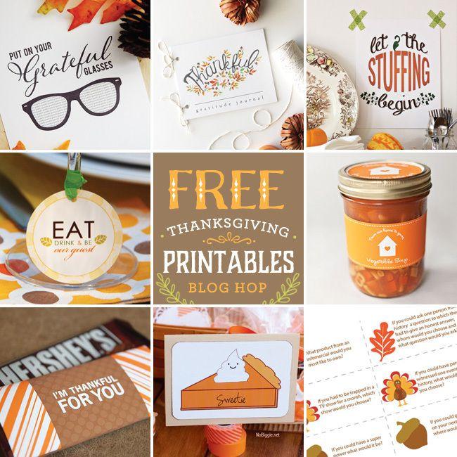 Thanksgiving Printable Blog Hop