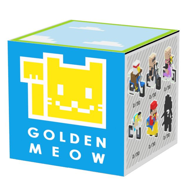 """Concept art for """"Golden Meow"""" Company logo for mobile game Delivery Road! #mobilegames #indiedev #indiegame #ios #androiddev #Android #unity #gamedevelopment #conceptart #pixelart #voxelart #watercolor #deliveryroad"""