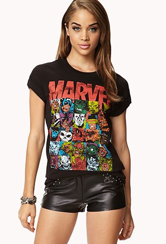 Marvel Comic Tee FOREVER21 2077236888 Marvel clothes