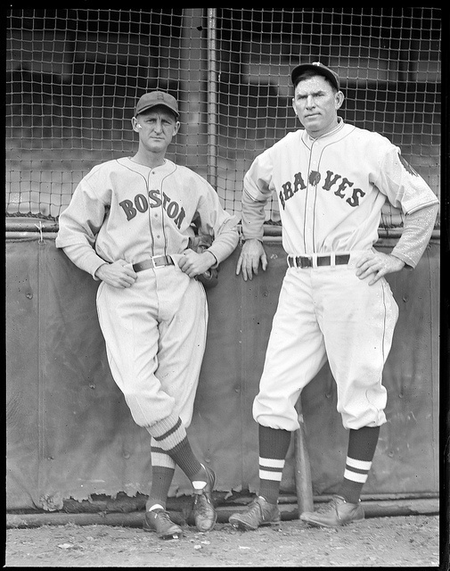 1934 -Red Sox Herb Pennock and Boston Brave Tom Zachary.