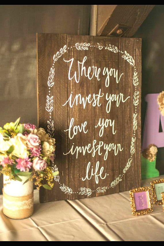 Rustic Wooden Wedding Sign - Welcome Sign - Woodsy Weddings / Barn Weddings