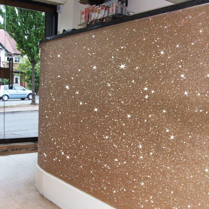 Glitter wallpaper stardust shades of gold glitter wallcovering around the house in 2019 - Glitter wallpaper ideas ...
