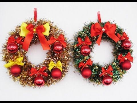 DIY Рождественские венки своими руками. Мастер класс. Christmas wreaths video tutorial - YouTube