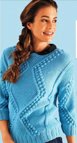 Hand Knit Women's crewneck sweater hand knitted