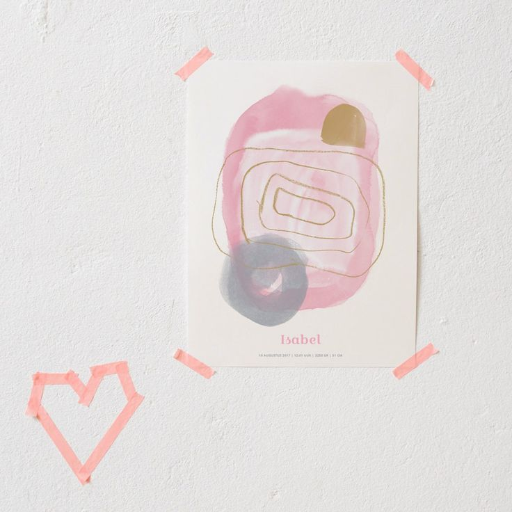 """Cute poster for a nursery or kids room. To make it even more special, add your baby's name and date of birth! Select option """"with..."""