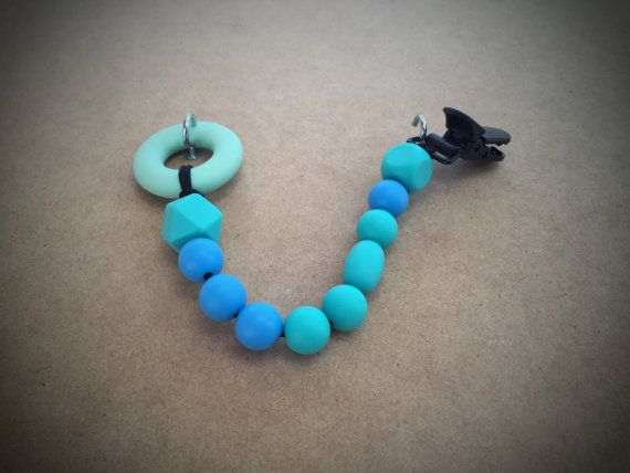 Dummy Clip Teething Toy by BabyBCreations1 on Etsy