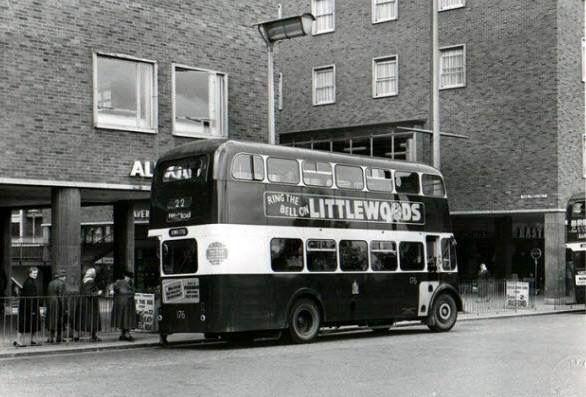 Daimler bus in Broadgate