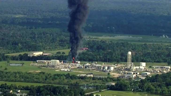 Texas county sues chemical plant owner over fires, blasts during Hurricane Harvey