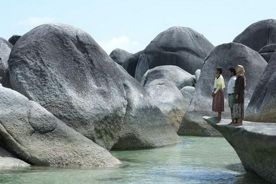 Tanjung Tinggi beach - Bangka Belitung - Sumatra Island.