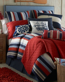 U like these colors & have the nautical,  beach, & library bedroom theme
