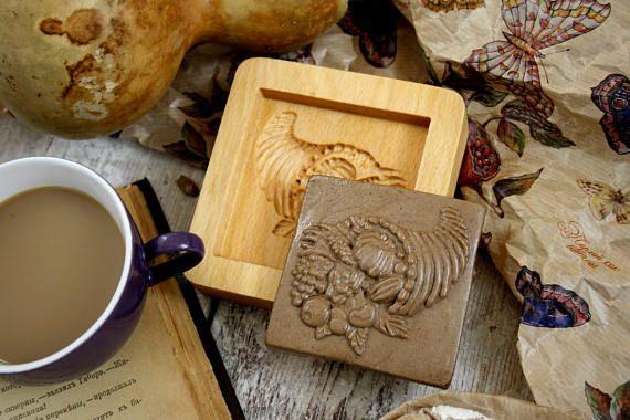 Cookies Mold Сornucopia Springerles Housewarming Gift Press