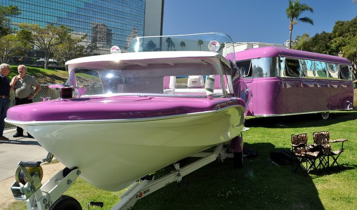 old finned boats | Just a Car Guy: Cool boat and RV found at the Motorama