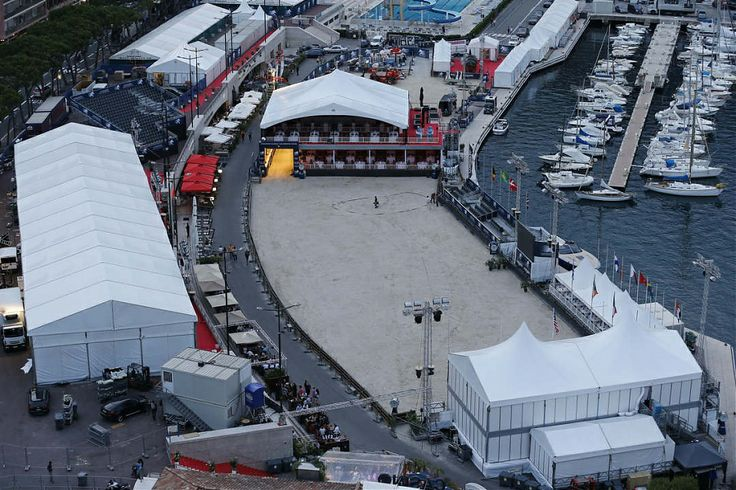 The arena is nearly ready to go - just some jumps required!