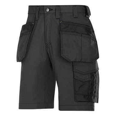 These practical Snickers 3023 Craftsmen Holster Rip-Stop Pocket Shorts are made from an ultra-light durable fabric which offers excellent ergonomic for freedom of movement. Ideal for working in warmer climates.