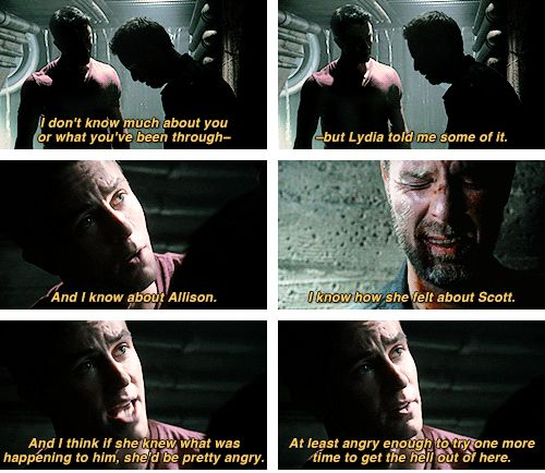 """Teen Wolf Season 04 Episode 11 """"A Promise to the Dead"""" Deputy Parrish and Chris Argent"""