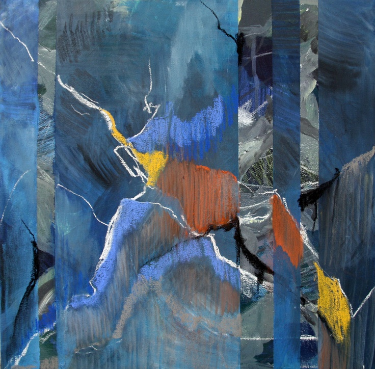 Mixed materials on canvas  Christel Maria Jantzen 2011