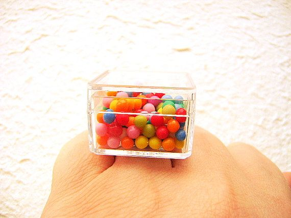Kawaii Candy Ring Miniature Food Jewelry by SouZouCreations, $15.00