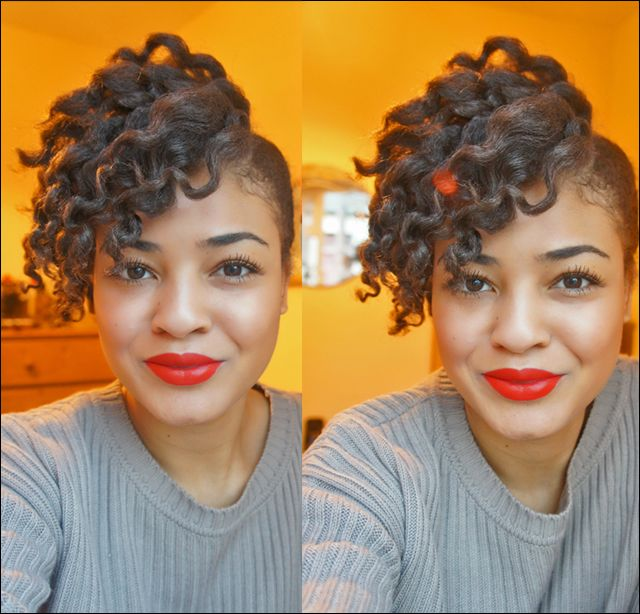 Recent FOTD, Red Lips & Side Swept Flat Twist Out ~ !Pink and leopard prints- A UK Beauty, Makeup & Transitioning/Natural Hair Care Blog