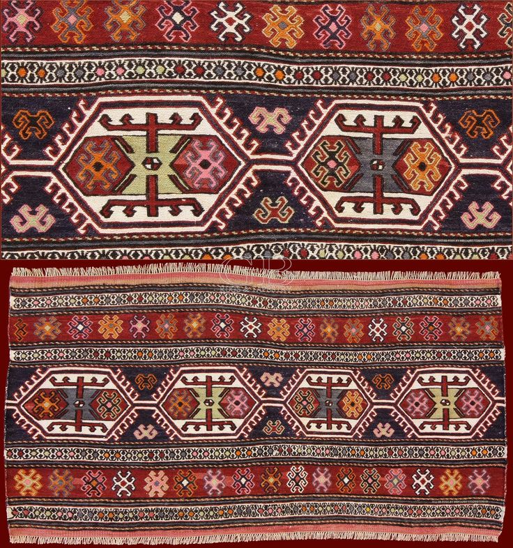 """Old Shahsavan Mafrashcm 105 x 55. The term Sumakh points the technique """"wrapped woofs"""" used for the weaving of certain kilims."""