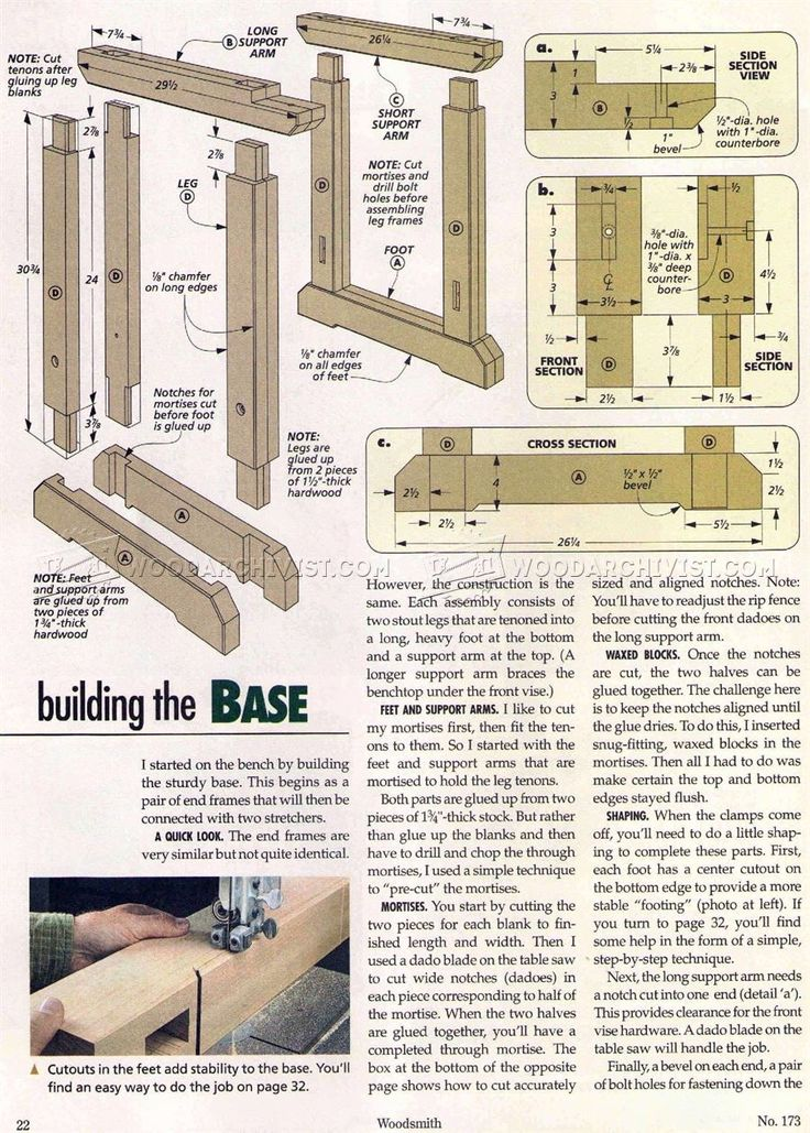 #1913 Traditional Workbench Plans - Workshop Solutions