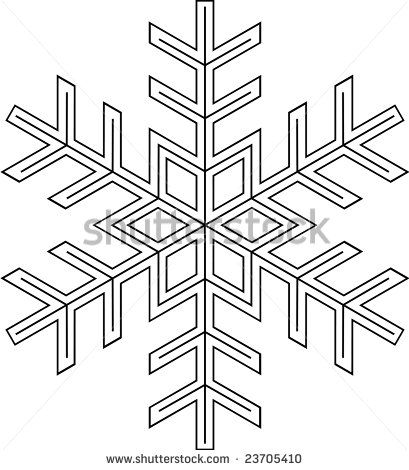 Snowflake Patterns to Trace | Traceable Snow Flakes