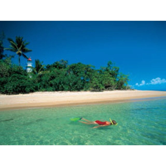 Snorkelling at Low Isle. Far North Queensland, Australia.