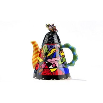 Large Butterfly Teapot by Britto