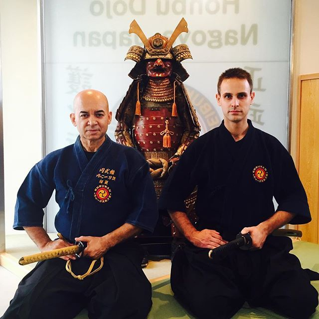 With my master, teacher, mentor and dear friend  // Mesteremmel, tanárommal, mentorommal és jó barátommal  #szegedbudokan #martialarts #academy #szeged #budokan #harcművészet #iaito #battojutsu #iaido #batto #katana #cut #cutting #sword #blade #japan #japanese #mylife #lovewhatyoudo #taikai #nagoya #honbu #dojo #samurai #warrior #spirit #budo #mentor #teacher #friend