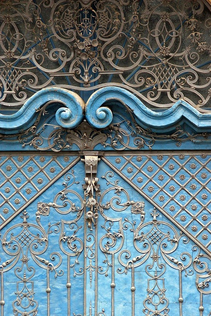 blue ornamentation