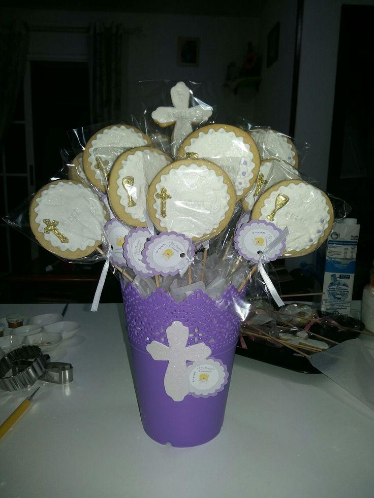Bouquet de galletas para comunión