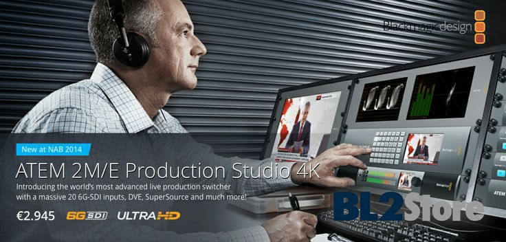NAB2014 - Blackmagic Design ha presentato il nuovo ATEM 2 M/E Production Studio 4K, compatibile SD, 720p HD, 1080i HD, 1080p HD e Ultra HD.