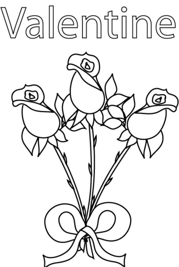 beautiful free valentines coloring pages - photo#34