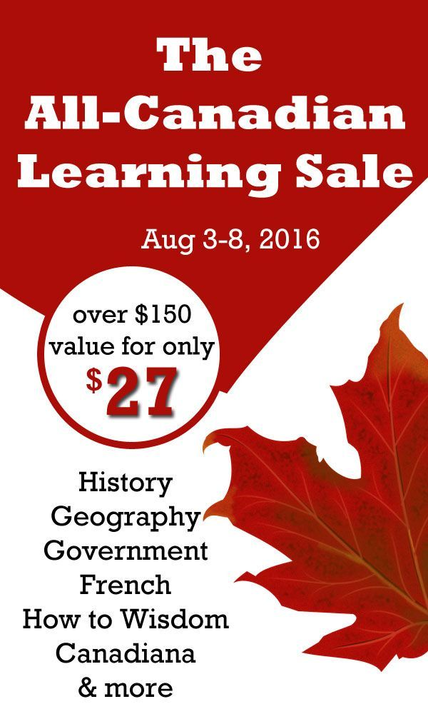Finally... a Canadian Curriculum sale! Canadian homeschoolers   Homeschooling in Canada   Canadian Social Studies   Canadian History   Canada Unit Study   Canada Lap Book   Canadian Resources