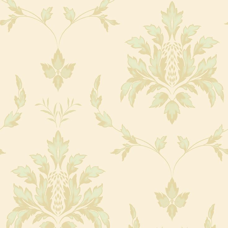 Opus Olivia Pale Green Floral Damask Wallpaper | Departments | DIY at B&Q