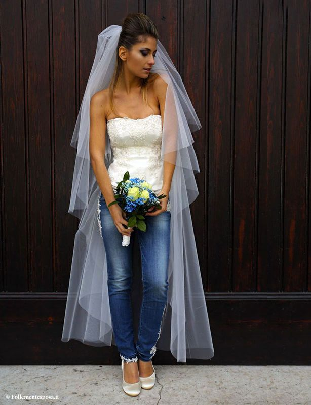 Matrimonio Sposa In Jeans : Migliori idee su abiti da sposa in denim pinterest