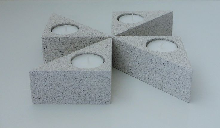 Vary the forms as you like - Aerated concrete tea light holder