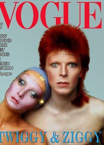 David Bowie and Twiggy, 1972                                                                                                                                                                                 More