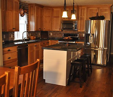 32 Best Images About Hickory Cabinets On Pinterest