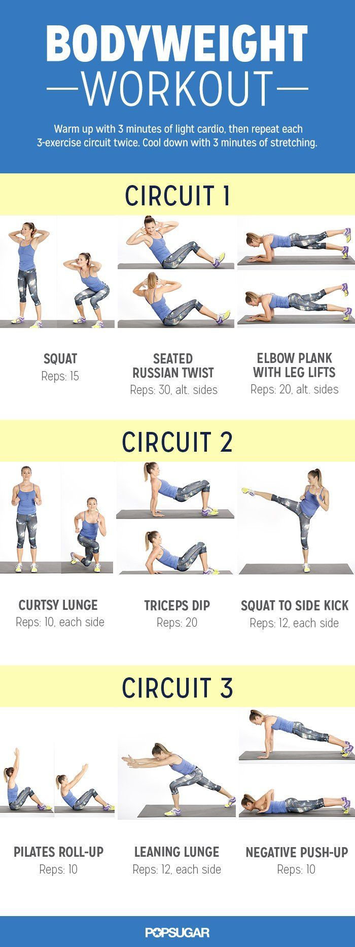 Tone and Strengthen Your Entire Body With This At-Home Workout | Pinterest | Workout, Muscles and Circuits