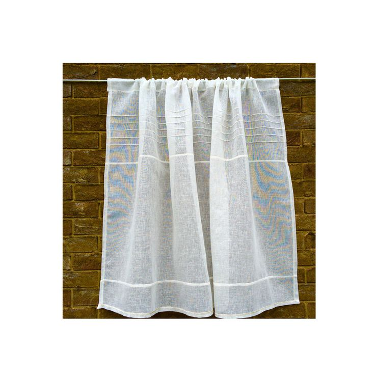 Ivory Sheer Window Curtain  Linen Gauze Off White Bathroom Panel. 54 best Linen Lace Curtains images on Pinterest   Cafe curtains