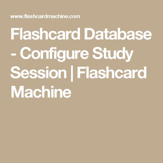 Flashcard Database - Configure Study Session | Flashcard Machine