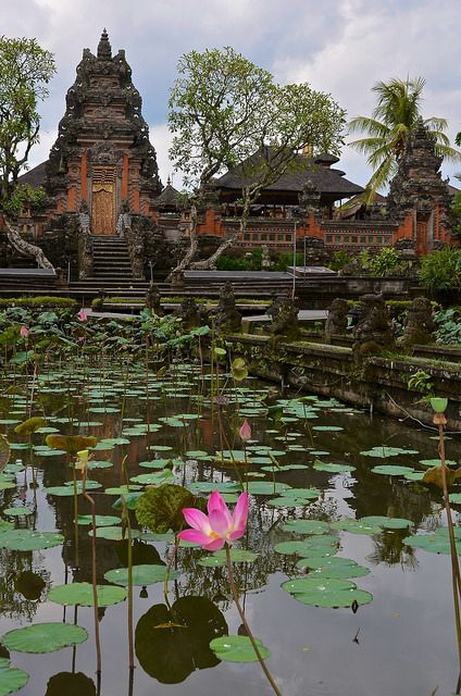 Pura Saraswati Temple in Ubud, Bali by Necessary Indulgences. #ubud #bali #lotus #temple