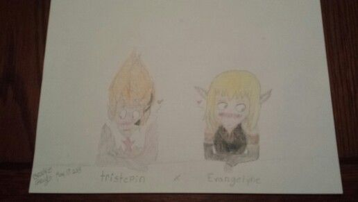 Tristepin and Evangelyne from the French anime called Wakfu. first time drawing them.