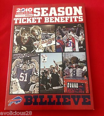 NFL Buffalo Bills 2010 Season Ticket Holder Pin Media Guide DVD Billieve RARE | eBay