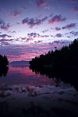 Sunset, Vancouver Island