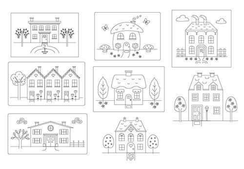 Little Houses Collection - Embroidery Patterns