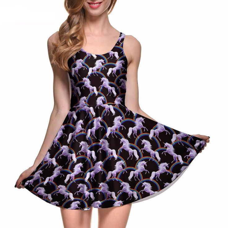 Gorgeous Attack of the Unicorns Reversible Skater Dress